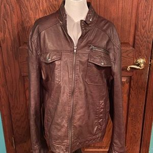 Used Kenneth Cole men's leather jacket XL